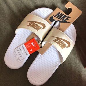Never been worn Nike Slides